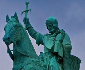 Sint-Lodewijk, koning en kruisvaarder. Bron: Wikipedia